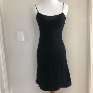Express Little Black Dress with Detailed Neckline